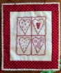 Patchwork Hearts Hand Embroidery Pattern