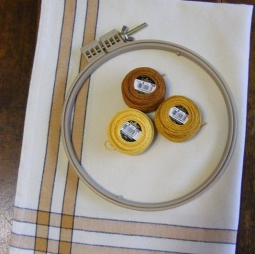 Picture of Gold Stripe Tea Towel