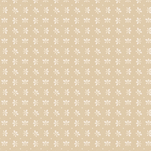 Picture of Floral Foulard - Natural Cotton Fabric