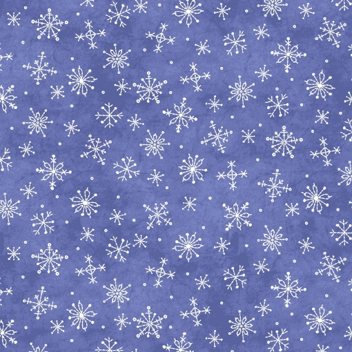 Picture of Roly-Poly Stitched Snowflakes - Blue