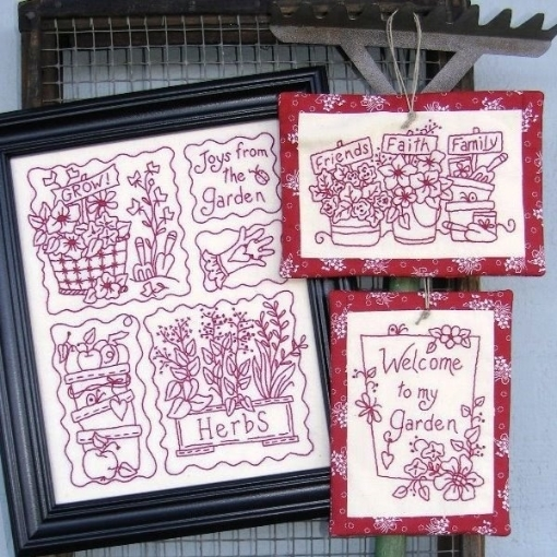 Picture of Joys from the Garden RedWork