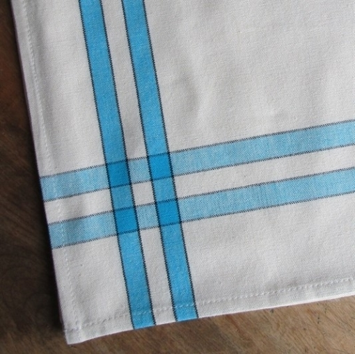 Picture of Turquoise Striped Tea Towel