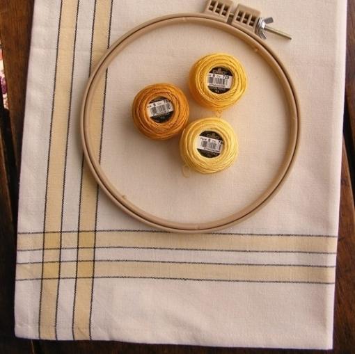 Picture of Yellow Stripe Tea Towel