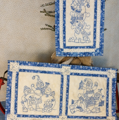 Picture of Snowball Fight - Machine Embroidery - 1175ME