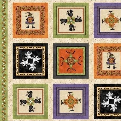 Picture of Halloweenie Kaleidoscope  Panel