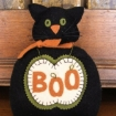 Boo Cat and Mouse Pin Cushion Wool Applique Pattern