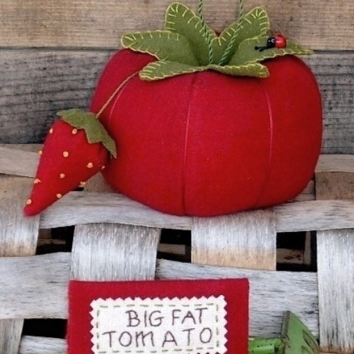 BIG FAT Tomato Wool Applique Pattern