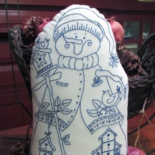 Picture of Mr. Snowman Hand Embroidered Door Stop