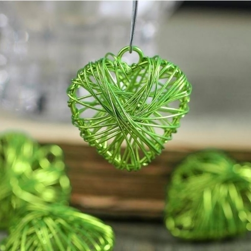 Picture of Miniature Green Apple Hearts (4)