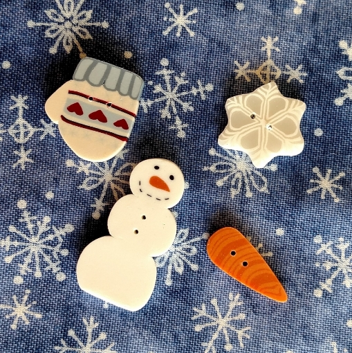 Snow Happy Buttons