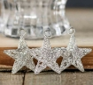 Picture of Miniature Silver Stars - pack of 3