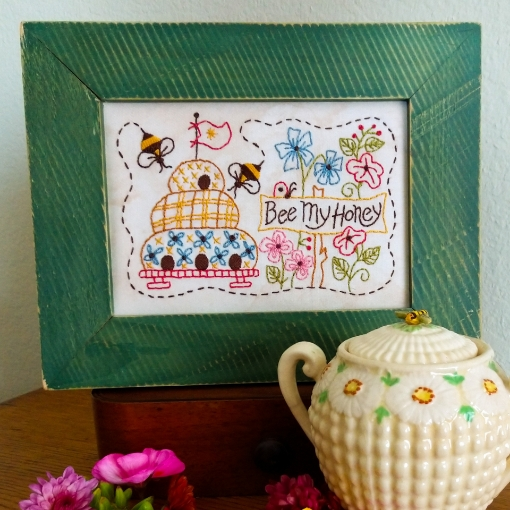 Bee My Honey Embroidery Design