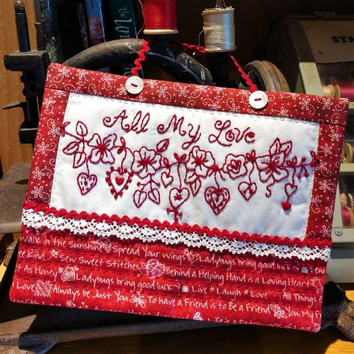 All My Love Embroidery Pattern