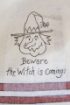 Beware! The Witch is Coming Stick 'n Stitch