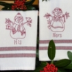 His and Hers Snow People Embroidery Pattern