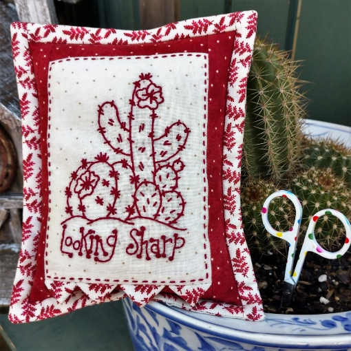 Picture of Looking Sharp  - Hand Embroidery Pin Cushion