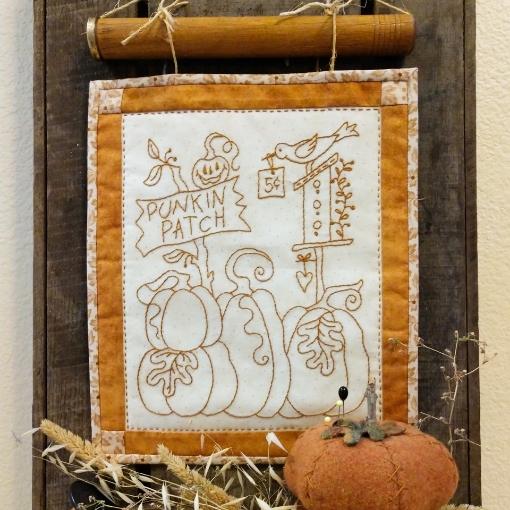 Pumpkin Patch Hand Embroidery Design
