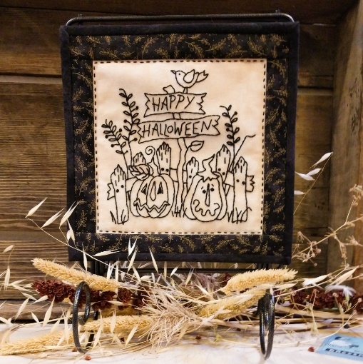 Country Happy Halloween Machine Embroidery Pattern