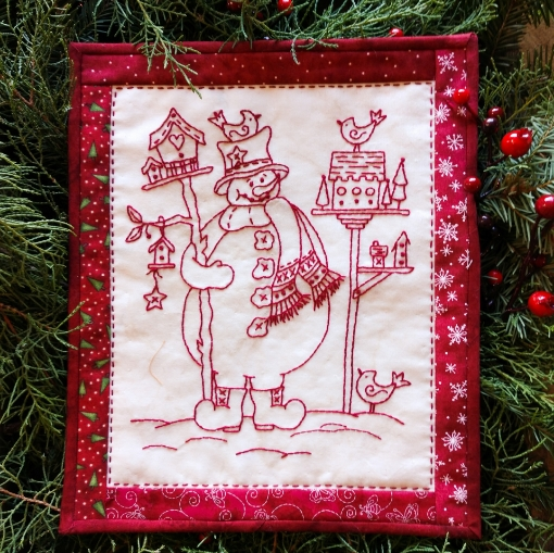 Bird Watcher Snowman Pattern