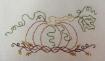 Pumpkin 'n Vines Machine Embroidery Pattern