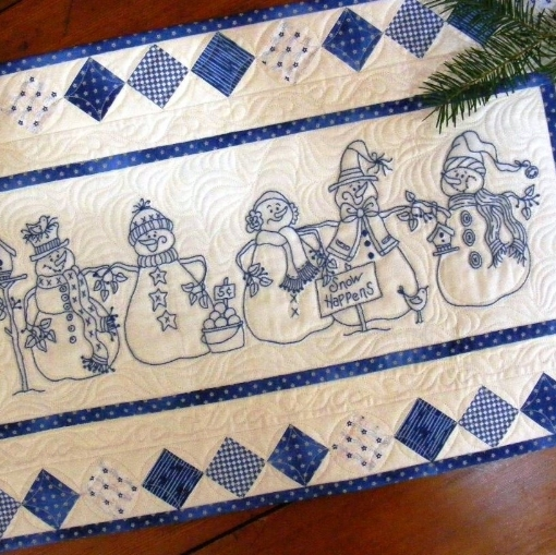 Snow Happens Embroidery Pattern