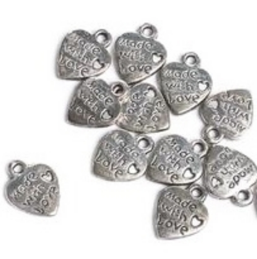 Picture of Made with Love Silver Charms
