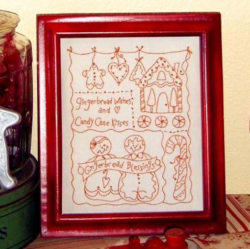 Gingerbread Blessings Hand Embroidery Pattern