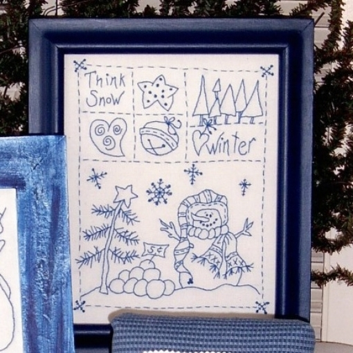 Winter Snowman Hand Embroidery Pattern