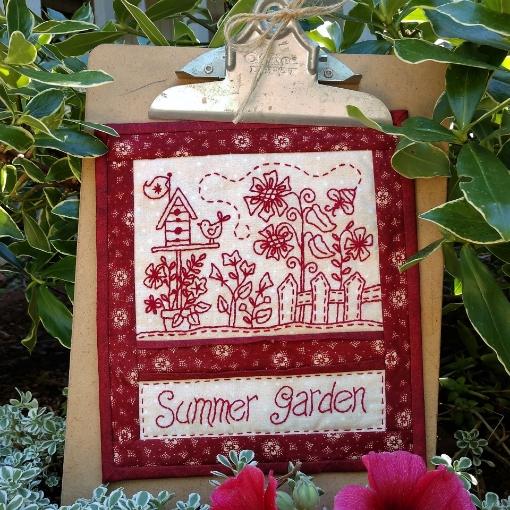 Summer Garden Embroidery Pattern
