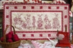 Picture of Bunny Bunch Table Runner - Hand Embroidery Download Pattern