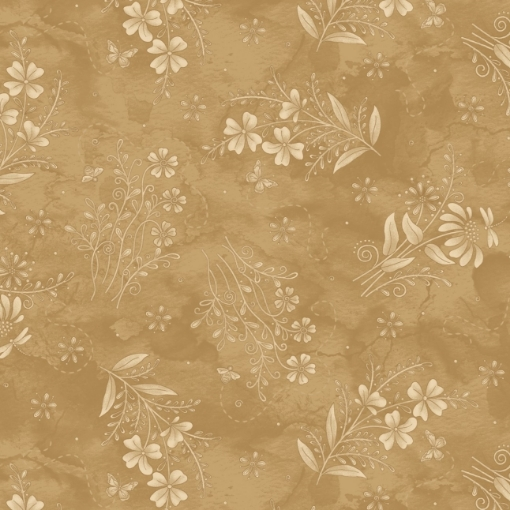 Wildflower Tea Dyed Cotton Fabric