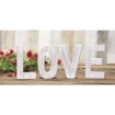 Picture of LOVE Rustic White Letters