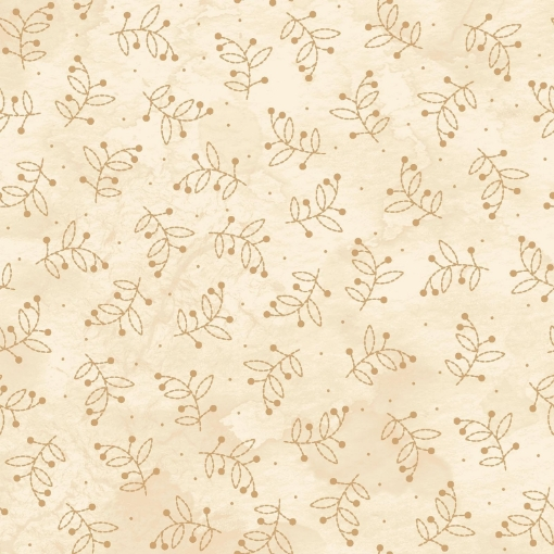 Picture of Sheltering Tree- Leaves- Tan Cotton Fabric