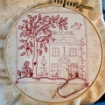 Picture of Sheltering Tree - Panel - Tan/Red Cotton Fabric