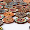 Picture of Vintage-look Wooden Buttons - Pack of 12