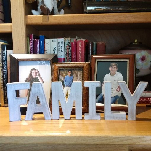 Picture of FAMILY Rustic White Letters