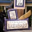 Hats, Shoes and Brooms Hand Embroidery Pattern