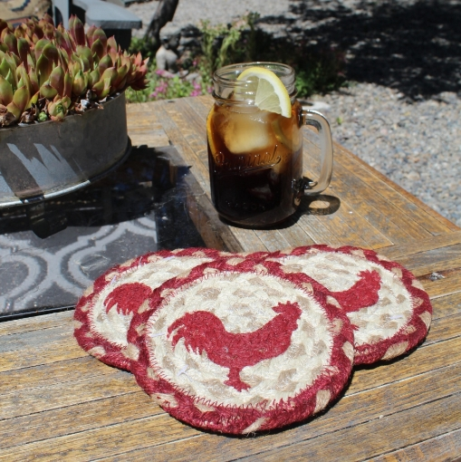 Picture of Red Rooster Coasters (Set of 4)