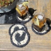 Picture of Black  Rooster Coasters (Set of 4)