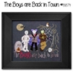 Picture of The Boys are Back in Town Button / Cross Stitch