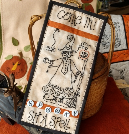 Come In! Sit A Spell Machine Embroidery Pattern