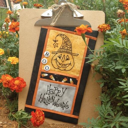 Happy Halloweenie - Hand Embroidery Pattern