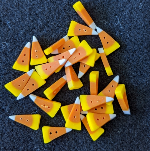 """Picture of Candy Corn Button (Large 3/4"""" long)"""