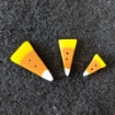 """Picture of Candy Corn Button (Tiny - 1/2"""" long)"""