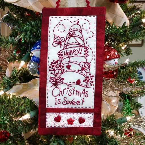 Picture of Honey! Christmas Is Sweet - Machine Embroidery Pattern