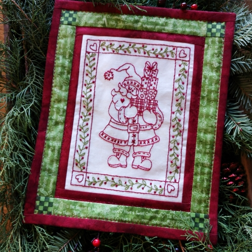 Santa's Christmas Gifts - Hand Embroidery Complete Kit