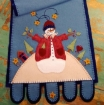 Snowman Village Wool Applique Table Runner Pattern