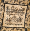 Home and Heart BlackWork Quilt - Hand Embroidery Pattern