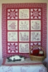 Love Me, Love My Cat RedWork Quilt - Machine Embroidery Pattern