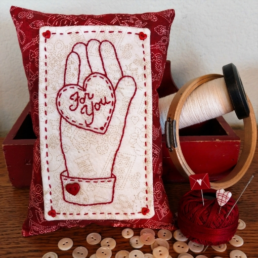 Picture of Heart & Hand For You Pin Cushion